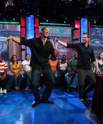 The Rock Visits MTV's TRL - September 17th, 2007