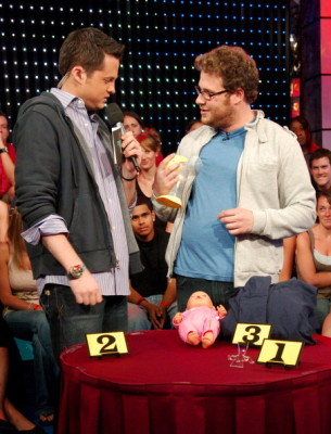 "Seth Rogen, Dane Cook, Ne-Yo and Maroon 5 Visit MTV's ""TRL"" - May 29, 2007"