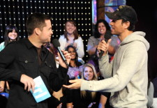 "Enrique Iglesias and David Cook Visit MTV's ""TRL"" - November 11, 2008"